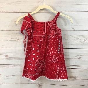 Girls Toddler Little Lindsey Bandana Dress